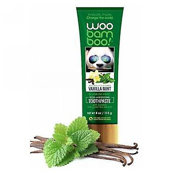 Woo Bamboo Vanilla Menta Dentifricio, 4 Oz