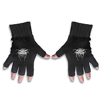 Darkthrone Gloves Band Logo Transilvanian Hunger new Official Fingerless Black