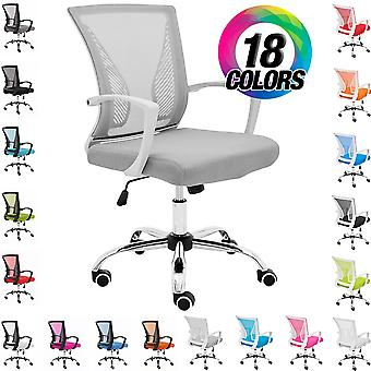 Modern Home Zuna Mid-Back Office Task Chair - Ergonomic Back Supporting Mesh Back Desk Chair