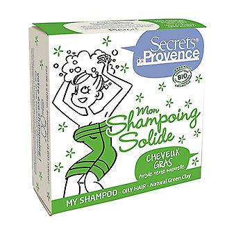 Solid Shampoo for Oily Hair with Green Clay 85 g