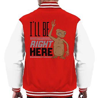 E.T. Ill Be Right Here Men's Chaqueta Varsity