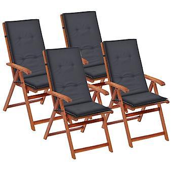 vidaXL hage stol utgave Hochlehner 4 stk. antracite 120 x 50 x 3 cm