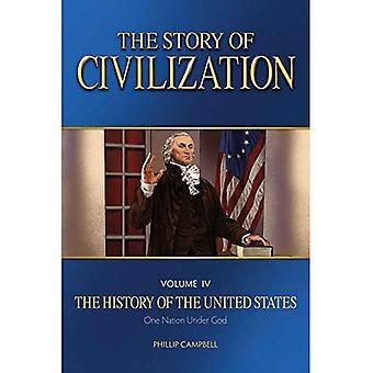 La storia della civiltà: Vol. 4 - La storia degli Stati Uniti una nazione sotto dio Libro di testo