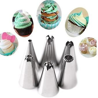 KCASA KC-PN15 7pc/set Silicone Icing Piping Cream Pastry Bag Stainless Steel