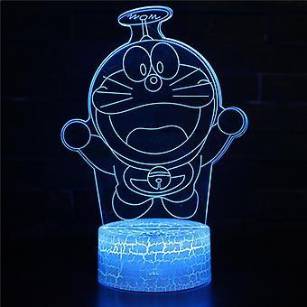 3D Touch Light Night 7 kleuren met afstandsbediening - Doraemon #594