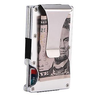 Kohlefaser Brieftasche Geld Clip - Metall Karte Pack Brieftasche dünne Rechnungen Cash Clips