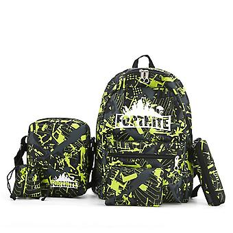 Backpack Fortress Night Teens Schoolbag,  Cartoon Student Teenage Backpack