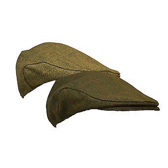 Walker and Hawkes - Uni -Sex Waterproof Branded Tweed Flat Cap