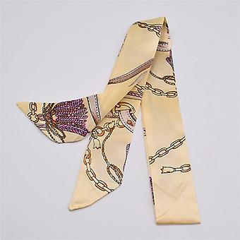 Small Silk Scarf - Print Handle Bag Ribbons Brand Fashion Head Scarf
