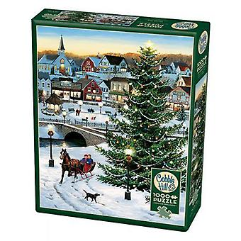 Cobble hill puzzle - village tree