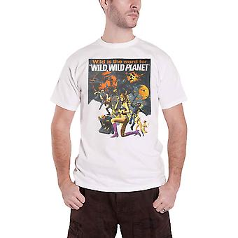 Plan 9 T Shirt Wild Wild Planet Movie Poster new Official Mens White