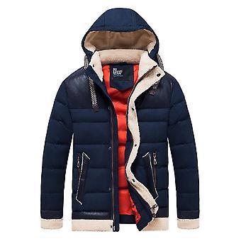 Menn Vinter Høst Tykk Varm Fleece Hette Parkas Jakke, Frakk Outwear, Avslappet