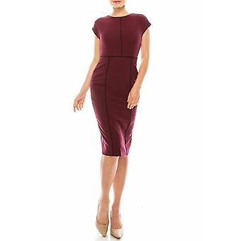 Beet Cap Sleeve Dress