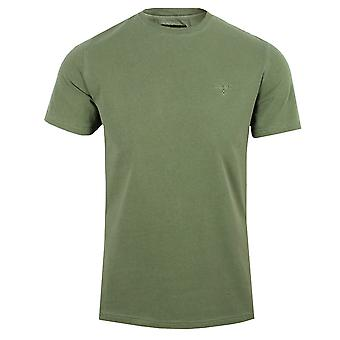 Barbour men's light moss garment dyed t-shirt