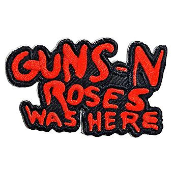 Guns N Roses Patch Cut Out Was Here Band Logo new Official