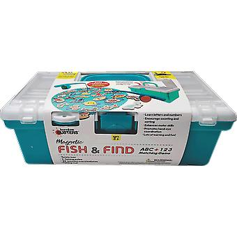 Magnetic fish & find abc + 123 matching game