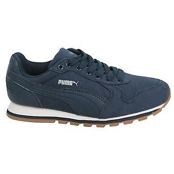 Puma ST Runner CV Lace Up Peacoat Textile Mens Trainers 359880 06 B97E