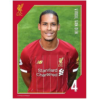 Liverpool FC Van Dijk Print