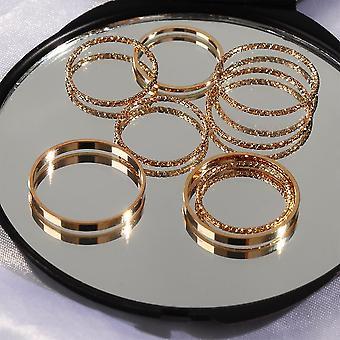 Fashion Simple Design Vintage Joint Rings Set