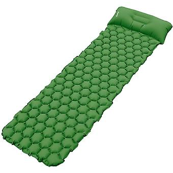 Deeplee Camping Mat, Inflatable Sleeping Mat with Pillow, Ultralight Sleeping Pad for Backpacking