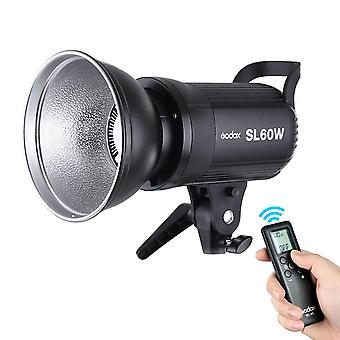 Godox sl-60w 5600k 60w bowens mount strobe flash monolight high power wireless remote control for ph