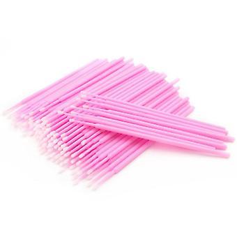 Bommullsticks voor valse wimpers en make-up 100-pack Pink