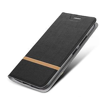 Suojaava PU Folio -kotelo Xiaomi Mi M8 Blackille