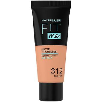 Maybelline New York Fit Me Matte + Poreless Foundation - 312 Golden