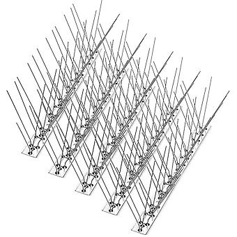Bird Spikes for Pigeons Small Birds Cats 4.6M (15 feet), Anti Climb Security Wall Fence