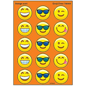 Emoji Cheer/Orange Stinky Stickers, 60 Ct.
