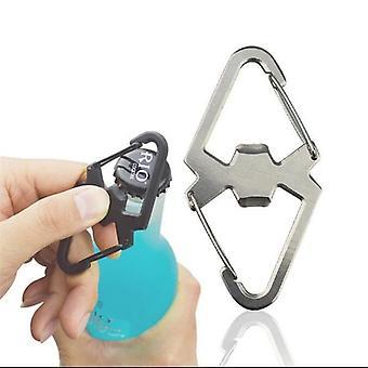 في الهواء الطلق التخييم غير القابل للصدأ Quickdraw متعددة الوظائف زجاجة مفتاح مفتاح سلسلة معدات التخييم