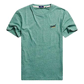 Superdry Orange Label Vintage Embroidered T-Shirt - Bright Green Grit