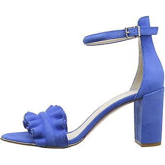 Kenneth Cole New York Women's Langley Ankle Sandal with Ruffle Detail on Fron...