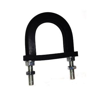 Light Duty Anti-vibration Rubber Lined U-bolt  49 Mm Id (suit 40 Mm Nb Pipe) - Galvanised