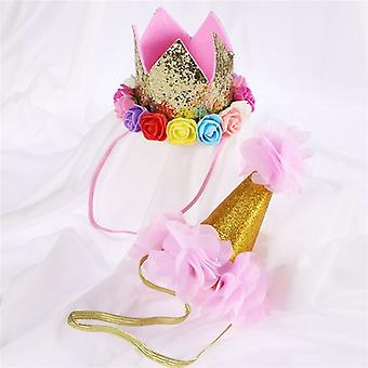 Roztomilý květinový design party klobouk pro psí kočka pet
