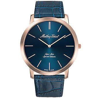 Mathey Tissot Men's Cyrus Blue Dial Watch - H6915PBU