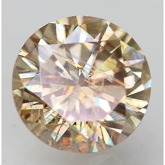 Cert 0.98 Karat Yel Brown VVS2 Runde brillant verbessert natürlichen Diamant 6.33mm