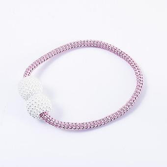 Thick Rope Pearl Magnetic Buckle Simple Curtain Magnet Buckle
