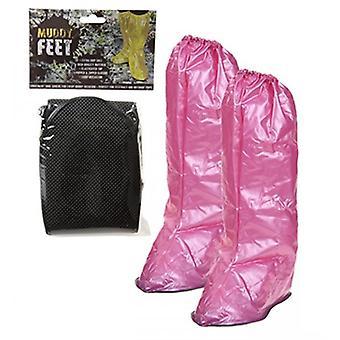 Csúcstalálkozó sáros láb vízálló overshoes kis rózsaszín