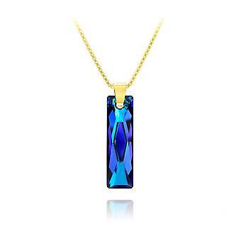 24K gold blue  necklace