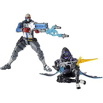 Ultimates Overwatch - ana et soldat:76 double pack action figure 6in