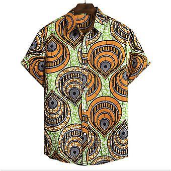 Men's قميص ريترو تونيل طباعة