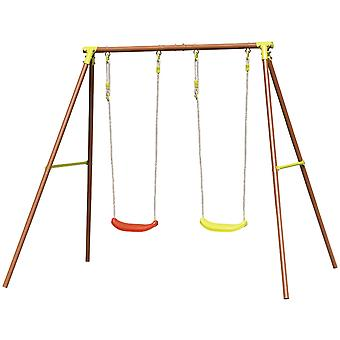 Have swing med ramme - 2-personers - 210x142x182 cm - max 50 kg pr swing
