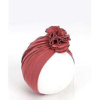 Uusi muoti kukka vauvan hattu vastasyntynyt elastinen turbaani 10 väriä puuvilla imeväinen