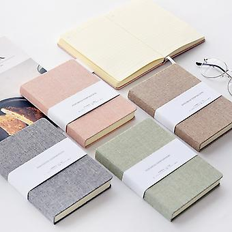 Blank and Grid Paper Notebook Linen Hard Cover 256 Pages Bullet 80 GSM Journal Planner Office School Supplies Stationery
