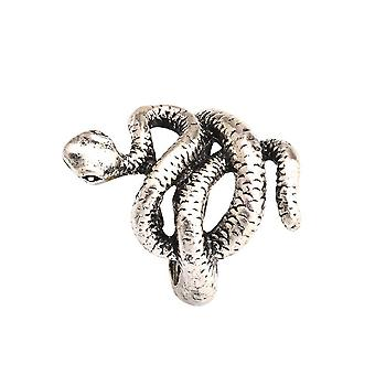 Exaggerated Snake Ring Retro Adjustable Alloy Finger Ring For Daily Use