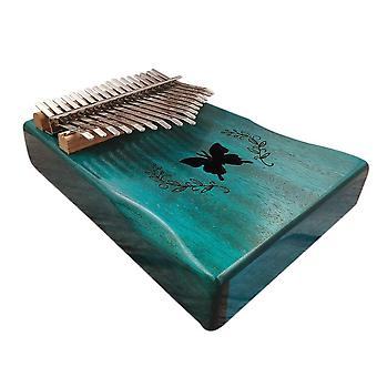 Thumb finger piano portable 17 keys solid wood musical instrument gift for music lovers beginners
