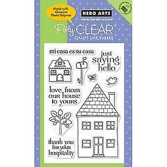 Hero Arts Mi Casa 6x4 inch Clear Stamp