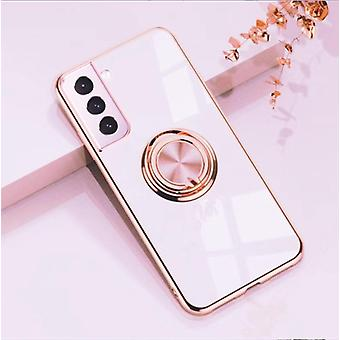 ║Samsung Galaxy S21║ Luxury Stylish Shell with Ring Stand Feature Gold