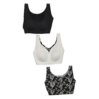 Rhonda Shear 3-Pack Body Removable Pads White Bra Set 715478